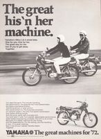 Yamaha LS-2 Street Bike 1972 Ad Picture