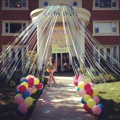 Kappa Delta bid day! Greatest sisterhood on earth!!! CIRCUS THEME  (please note - those balloons may be non-helium  look good)