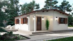 BUNGALOW PERSEO 40 m² 580x680 con porche, Bungalows de 45mm