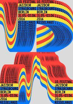 Jazzdor Berlin 201 (4 combinatorial posters), by Helmo