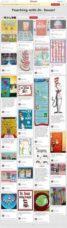 Teaching with Dr. Seuss Collaborative Pinterest Board