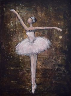 Ballerina Painting Dancer Painting Figure Painting Ballet Espresso Blush pink For the Stars Ballet Drawings, Ballerina Painting, Ballet Dancers, Ballerinas, Artist Aesthetic, Ballet Beautiful, Easy Paintings, My Little Girl, Large Flowers