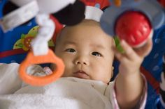 Finding the right play equipment for your baby's age will ensure your baby's content, not bored or frustrated.