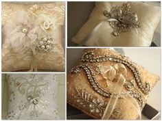 ring pillows / wedding inspiration montage