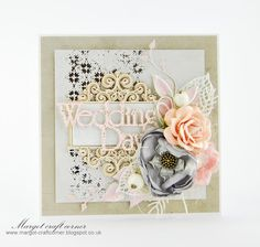 Scrap & Craft: Silver and gold wedding ... using products from  http://scrapandcraft.co.uk/ #Wedding #chipboard #flowers #berries