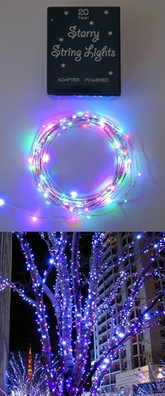 An absolutely magical lighting feature. Truly like floating stars since the wires almost disappear. My visiting friends couldn't keep their hands off them. The best lighting string I ever bought and since I ordered them from Amazon the selection, service and delivery couldn't be faster. I love them.