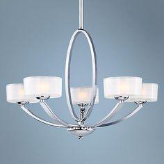"""Maxim Elle 30"""" Wide Polished Chrome Chandelier - #V3386   LampsPlus.com"""