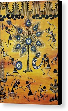 Tribals II Canvas Print by Ivy Sharma. All canvas prints are professionally printed, assembled, and shipped within 3 - 4 business days and delivered ready-to-hang on your wall. Choose from multiple print sizes, border colors, and canvas materials.