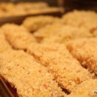Pankoconut Fish Sticks and Spicy Mango Salsa