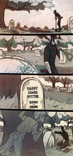 Forgotten Grave by AnastasiaMantihora Severus and Harry Snarry <3