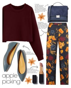 """""""Fall Apple Picking"""" by gaviottarindy ❤ liked on Polyvore featuring Mother of Pearl, Loeffler Randall, Fall and applepicking"""