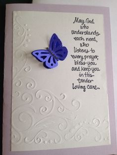 Quick and simple embossed card