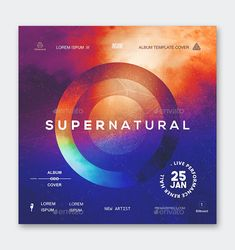 Supernatural Album Cover Template PSD