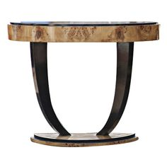 1stdibs.com | Art Deco Style Burled Console Table