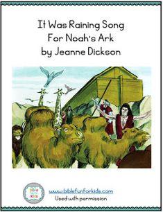 Noah's Ark song, flipchart and more by Jeanne Dickson Bible Songs For Kids, Preschool Bible Lessons, Preschool Class, Bible Activities, Noah's Ark Bible, Sunday School Songs, Noah Ark, Armor Of God, Rainbows