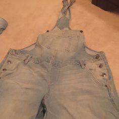 L.E.I. Jean overalls Lightly faded-wash jean overalls l.e.i. Jeans Overalls