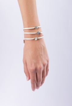 Three-stone bracelet from Flight Boutique. It's a wrap, whether you wear it solo, stacked on with your usual jewels or when it's apres all that apres & you want just enough bling but not too much.