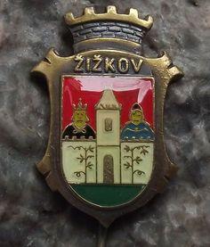 Antique Prague Zizkov District Praha 3 Heraldic Crest Coat of Arms Pin Badge Prague City, Fancy Schmancy, Pin Badges, Coat Of Arms, Tattoo Ideas, Lily, Antiques, Design, Historia