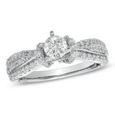 3/4 CT. T.W. Diamond Split Shank Engagement Ring in 10K White Gold - Zales