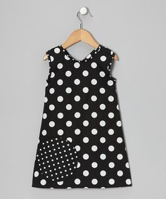 Take a look at this Black & White Georgia Kate Wrap Dress - Infant, Toddler & Girls on zulily today!