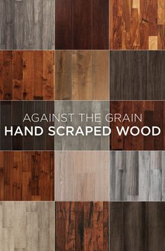 Hand scraped wood floors can help give a room a warm look and cozy atmosphere, with variations in patterns from plank to plank.
