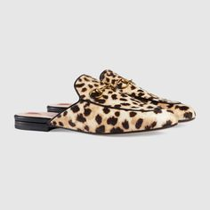 Gucci Princetown leopard calf hair slipper Detail 2