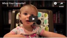 This cute video of a toddler being interrogated about which parent is her favorite is absolutely hilarious. Sorry, Dad!