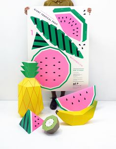 Giant Tropical Fruit Poster