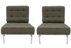 Florence Knoll  Lounge Chairs, Pair