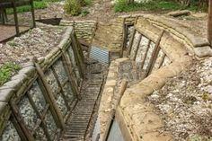 Reconstructed trenches at Thiepval Wood. Men of the 36th Ulster Division attacked the Schwaben Redoubt on the 1st July 1916 from these trenches, taking over 5000 casualties. photo