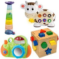 List of toys for 1 year olds development