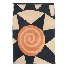 "Alexander Calder Cisel Tapestry/Rug  Nicaragua  1974  Hand Woven Jute ""Star""   CAC Publication  Signature and number lower edge,label on the back"