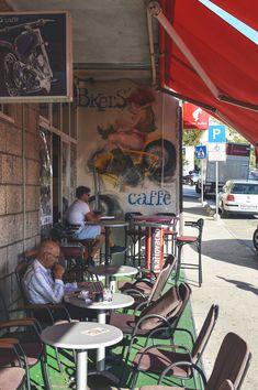 Join the locals at the Biker's Café in Dubrovnik, Croatia | heneedsfood.com