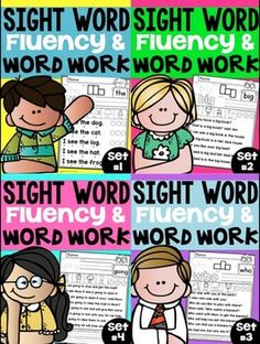 Sight Words Fluency NO PREP and Word Work Tweet Resources and FirstGradeFunTimes have teamed up to bring you this exciting new NO PREP SIGHT WORD SERIES!Sight words are fundamental building blocks to fluency in reading, but they can be the most difficult area of reading instruction because sight words so often defy the general rules of phonics.