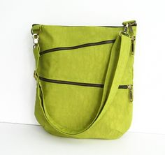 Sale  Water-Resistant Messenger Bag in Apple Green by tippythai