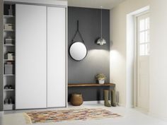 Need room for storage in your hallway? fits both most budgets and small spaces ? Need room for storage in your hallway? fits both most budgets and small spaces ? Small Rooms, Small Spaces, Hall Wardrobe, Garage Renovation, Parents Room, Flat Ideas, House Entrance, Interior Design Inspiration, Mudroom