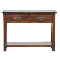 @Overstock - This handsome console table is constructed of acacia wood with a natural, rust-proof wax finish. This table features two drawers with silvertone hardware.http://www.overstock.com/Home-Garden/Adora-2-drawer-Console-Table/7396644/product.html?CID=214117 $251.99