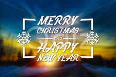 Qdiz Stock Photos | Merry Christmas and New Year greeting card,  #background #blur #blurred #card #celebration #Christmas #eve #glow #greeting #happy #holiday #Merry #new #postcard #retro #road #season #Sun #sundown #Sunset #traditional #vintage #winter #xmas #year