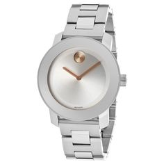 Movado Bold Women's 3600169 Silvertone Dial Stainless Steel Watch | Overstock™ Shopping - Big Discounts on Movado Movado Women's Watches