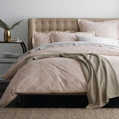 Pennington Gate Count Sateen Duvet Cover at The Company Store - Bedding - Duvet Covers - Sateen - Twin Pottery Barn Teen Bedding, Velvet Duvet, Outdoor Cushions And Pillows, Best Bedding Sets, Luxury Bedding Collections, Bedding Shop, Bedding Decor, Pink Bedding, Bedroom Decor