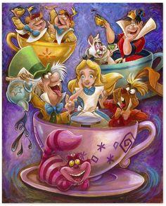 Disney ''Alice in a Teacup'' Giclée by Darren Wilson