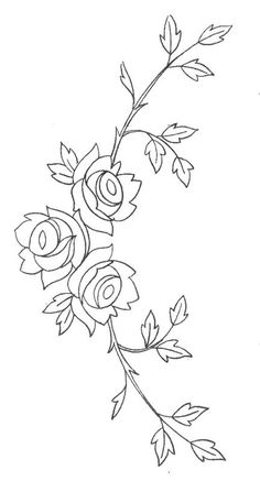 digitize for a sleeve or a pants leg Floral Embroidery Patterns, Embroidery Flowers Pattern, Machine Embroidery Applique, Hand Embroidery Designs, Beaded Embroidery, Flower Patterns, Embroidery Stitches, Bordado Popular, Tole Painting Patterns