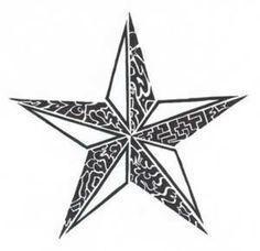 tattoos stars for men   Tribal Star Tattoo image - vector clip art online, royalty free ...