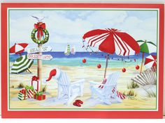 Holiday Beach Signs Christmas Cards Wishing you a warm and wonderful holiday. (http://www.caseashells.com/holiday-beach-christmas-cards/)