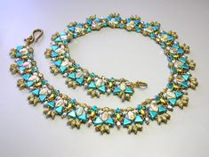 Tutorial  Canyon's River Necklace  Silky Kheops by zviagil on Etsy