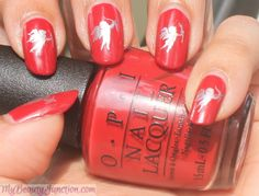 Valentine's Day Cupid Nail Art with OPI Fifty Shades of nail polishes