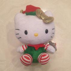 Hello Kitty Elf Hello Kitty Crafts, Hello Kitty Plush, Hello Kitty Items, Hello Kitty Christmas, Elf Doll, Hello Kitty Collection, Toy Boxes, Animal Pillows, Plush Dolls