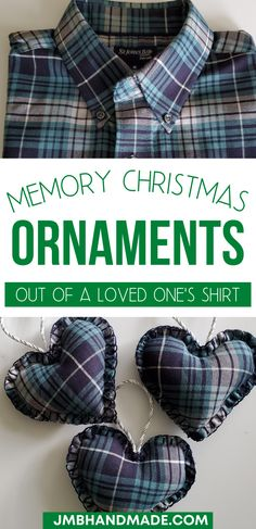 Christmas Sewing Gifts, Quilted Christmas Ornaments, Christmas Sewing Projects, Christmas Tree, Pillows From Shirts, Shirt Pillows, Shirt Quilt, Memory Pillow From Shirt, Memory Pillows