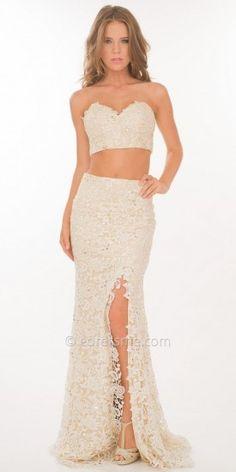 Atria Chiffon Lace Two-Piece Prom Dress