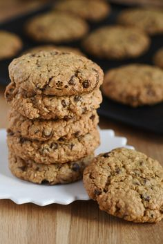 Cookies Oatmeal & Chocolate Source by marinechaubard Chocolate Chip Cookies, Oat Cookies, Chocolate Chip Oatmeal, Healthy Cookies, Cookies Et Biscuits, Chocolate Chips, Cake Recipes, Snack Recipes, Dessert Recipes